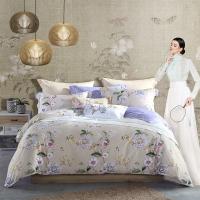 梦洁家纺出品 MAISON 床品套件 纯棉印花四件套 全棉床单被罩 玉藤 1.5米床 200*230cm