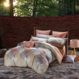 SAINTMARC罗莱生活出品 贡缎纯棉四件套 全棉床品套件床上用品床单被套 布鲁诺W-SED5249-4 尚玛可200*230