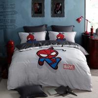 LOVO罗莱生活出品 四件套纯棉 漫威引进授权床品套件床单被罩 超凡蜘蛛侠 200*230cm