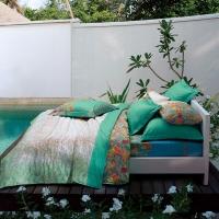 LUOLAI罗莱家纺出品床品套件 全棉缎纹四件套 W-DY573-4 1.8m床220*250