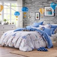 梦洁家纺出品 DreamCoCo 床品套件 水洗棉四件套 床单被套 热气球 1.8米床 220*240cm