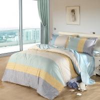 SAINTMARC罗莱出品 198纱支纯棉四件套 全棉床品套件家纺床上用品床单被罩 逸想 220*240