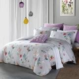 梦洁家纺出品 MAISON 床品套件 纯棉印花四件套 全棉床单被罩 花枝墨染 1.5米床 200*230cm