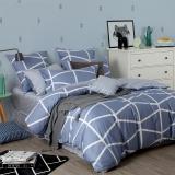 多喜爱(Dohia)床品套件 cosmo系列全棉中性双人加大纯棉四件套 床单款 赫尔辛格 1.5米床 200*230cm