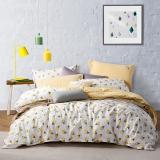 LOVO罗莱生活出品 水洗棉纯棉四件套 AB版双面使用床上用品套件 甜蜜冰激凌200*230cm