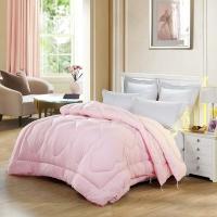 水星家纺 奥斯丁玫瑰四孔二合一被 粉色 单人被子150*210cm