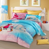 SAINTMARC罗莱出品 205纱支纯棉三件套 全棉床上用品床品套件床单被罩 爱丽丝的棉花糖之梦 150*215