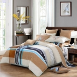 水星家纺 床上四件套纯棉 全棉磨毛活性印花被套床单被罩床品套件 苏格兰曲 加大双人1.8米床