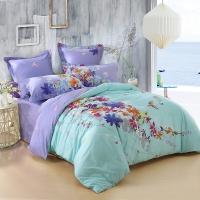 SAINTMARC罗莱生活出品 贡缎纯棉四件套 全棉床品套件床上用品床单被套 卡布里小调SED2792-4 尚玛可220*240