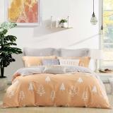 水星家纺 床上四件套纯棉 全棉磨毛印花床单被罩被套 秋冬床品套件 小资爱 加大双人1.8米床