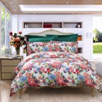 富安娜(FUANNA)家纺床品套件四件套 纯棉斜纹全棉床单被套 倾城之魅1.8米床(230*229cm)米白