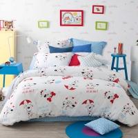 多喜爱(Dohia)床品套件 全棉斜纹卡通儿童四件套 床单款 酷皮 1.8米床 230*230cm