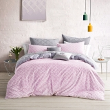 LOVO 罗莱生活出品 全棉斜纹四件套床品套件  佩吉粉色1.8米床220*240cm