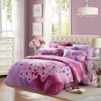 LUOLAI罗莱家纺 磨毛纯棉四件套 全棉床品套件床上用品床单被套 暖风拂面WAM2186C-4 220*250