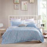 LOVO罗莱生活出品 莱赛尔竹纤维四件套床品套件床上用品 凝雪兰香220*240cm