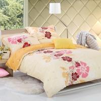 多喜爱(Dohia)床品套件 全棉斜纹田园风四件套 床单款 茵美 1.5米床 200*230cm