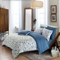 水星家纺 床上四件套纯棉 全棉斜纹印花被套床品套件床单被罩 北欧星空 双人1.5米床