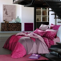 SAINTMARC罗莱生活出品 贡缎纯棉四件套 全棉床品套件床上用品床单被套 魔方世界W-SED5246-4 尚玛可200*230