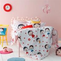 多喜爱(Dohia)床品套件 樱桃小丸子纯棉卡通四件套 床笠款 友谊万万岁 1.8米床 230*230cm