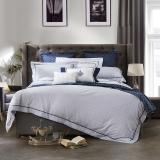 LOVO羅萊生活出品 天絲棉提花四件套 輕奢床品套件床單被罩 埃爾頓220*240cm