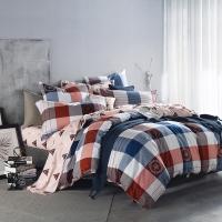 多喜爱(Dohia)床品套件 全棉加厚磨毛四件套 床单款 自由主义 双人 1.8米床 230*230cm