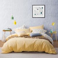 LOVO罗莱生活出品 水洗棉纯棉四件套 AB版双面使用床上用品套件 甜蜜冰激凌220*240cm