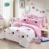 水星家纺 全棉斜纹印花床上四件套 爱神冬己 床单被罩 1.8米床
