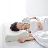 大朴(DAPU)枕芯家纺 A类枕头 静眠泰国天然乳胶枕 真空物理发泡 轻薄透气枕 护颈枕 波浪款 60*40cm