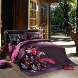 SAINTMARC罗莱出品 205纱支纯棉四件套 全棉床品套件家纺床上用品床单被罩 潘多拉 200*230