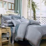 富安娜(FUANNA)家纺四件套纯棉 全棉床品套件床单被套简约中性 射手座1.8m床适用(230*229cm)
