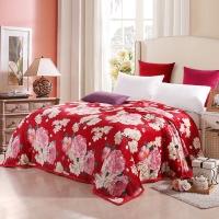 优雅100(uya100)毯子家纺 柔软舒适法兰绒四季毯 午睡毯 花开富贵 150*200cm