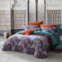梦洁家纺出品 MAISON 床品套件 天丝长绒棉磨毛印花四件套 床单被罩 叶芝物语 1.5米床 200*230cm