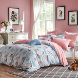 梦洁家纺出品 DreamCoCo 床品套件 水洗棉四件套 床单被套 梦幻甜甜圈 1.5米床 200*230cm