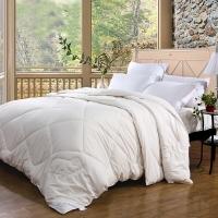 富安娜(FUANNA)家纺四季被子 纯棉双人冬被芯 珍芯澳洲羊毛被 冬厚被1.8米床适用(230*229cm)