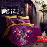 SAINTMARC罗莱生活出品 贡缎纯棉四件套 全棉床品套件床上用品床单被套 艾露莎的魔法羽翼SED5278-4 220*240