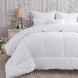 多喜爱(Dohia)被子 全棉提花羽丝绒被芯 冬被 梦娜白色 1.2米床 150*200cm