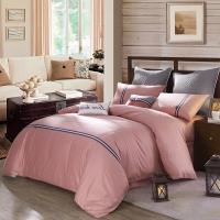 LOVO罗莱生活出品四件套纯棉 床上用品四件套 床品套件床单被罩 慢调时光 220*240cm