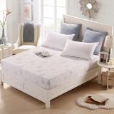 优雅100(uya100)床笠家纺 时尚印花床笠 床垫罩 白色 1.5米床 150*200cm
