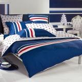 多喜爱(Dohia)床品套件 纯棉四件套 床笠款 运动风潮 双人 1.5米床 200*230cm