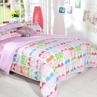 多喜爱(Dohia)床品套件 女生梦想韩式纯棉四件套 床笠款 双人 1.5米床