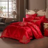 梦洁家纺出品 MAISON 床品套件 婚庆提花四件套 床单被罩 为爱加冕 1.5米床 200*230cm