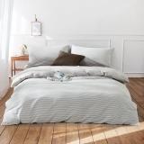 佳佰 四件套 床上用品 被套床单枕套 水洗纯棉面料 时光(米色) 适用1.5米双人床(200*230)【京东自有品牌】