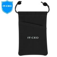 IT-CEO IT-320 移动硬盘包保护套 耳机电子产品配件数码包 手机数据线绒布收纳袋 黑色