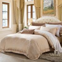 梦洁家纺出品 MEE 床品套件 欧式典雅提花四件套 床单被罩 伯利庄园 香槟色 1.5米床 200*230cm