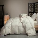 斯诺曼(snowman)被芯家纺 匈牙利进口95%鹅绒被 舒适羽绒被 冬被被子 邂逅伯爵 填充量1.5kg 220*240cm