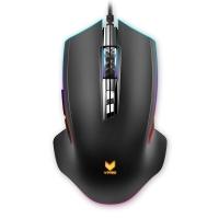 雷柏(Rapoo) V20PRO 幻彩RGB 电竞鼠标 游戏鼠标 有线鼠标 笔记本鼠标 绝地求生吃鸡利器 黑色
