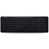富勒(Fühlen) L460S 智能蓝色背光 无线薄膜键盘 静音键盘 家用 笔记本电脑办公 黑色