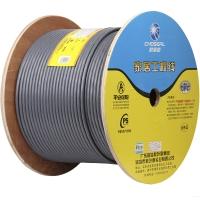秋叶原(CHOSEAL)超六类网线商用版(0.58线芯)双屏蔽抗干扰降衰减纯铜导体灰色305米QS2669AT305