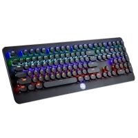 魔炼者(MAGIC-REFINER)MK9复古圆键帽青轴混光全铝合金108键吃鸡专业电竞游戏机械键盘