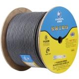 秋叶原(CHOSEAL)七类双屏蔽网线商用版(0.58线芯)支持万兆设备纯铜工程家装箱线灰色305米 QS2620AT305